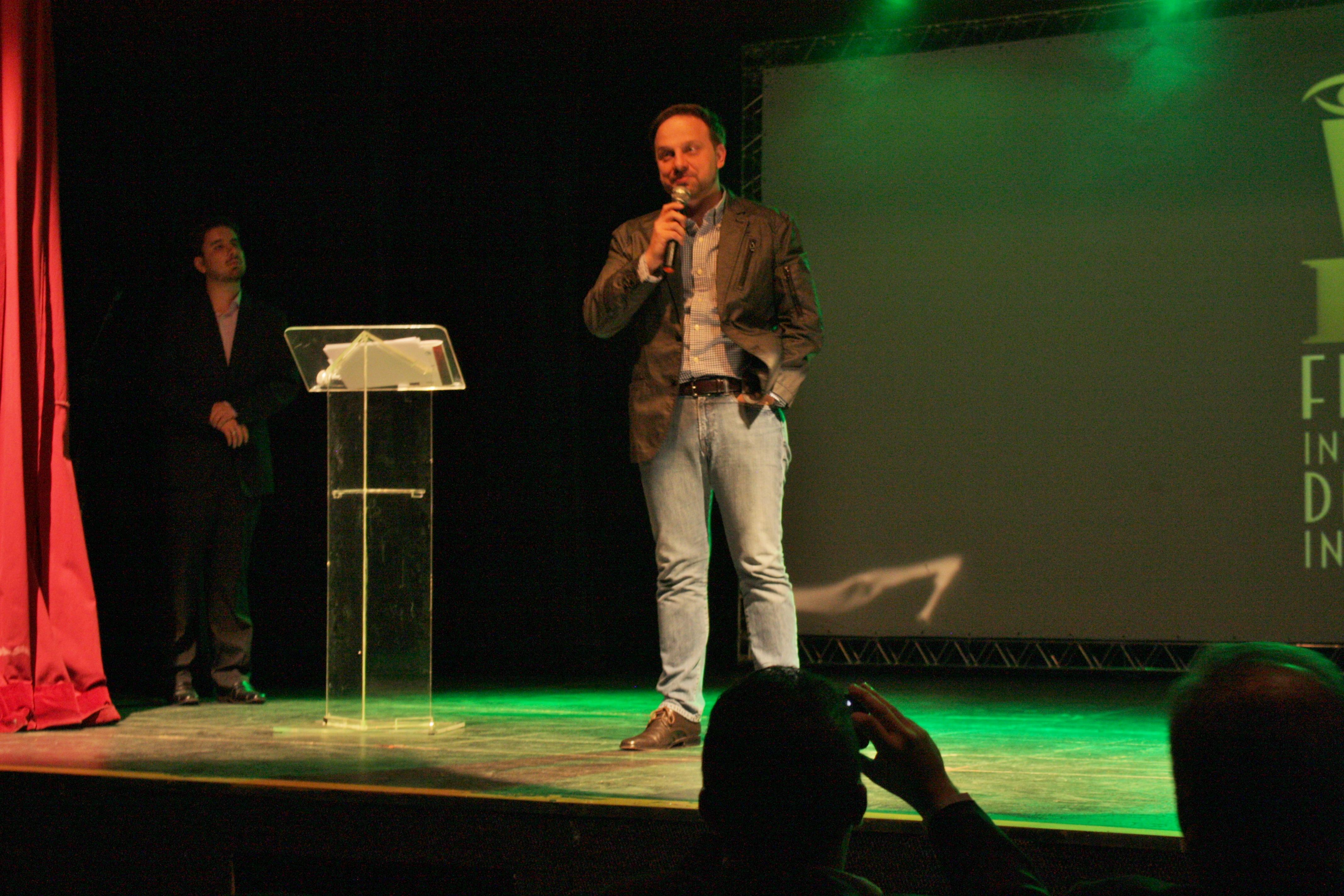 Gustavo Tomazin - escritor e incentivador do FESTICINI