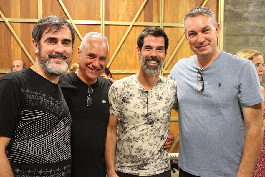 Da esquerda para direita Ricardo severo Carlos Braga Ivann Willig e Wilson Roque Basso