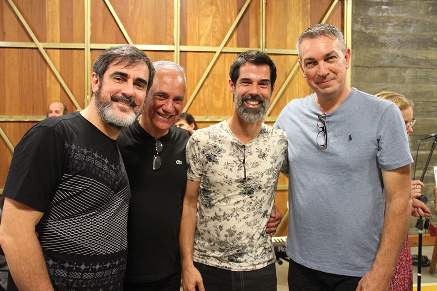 Os Curadores Wilson Roque Basso e Carlos Braga ao Lado do diretor Ivann Willig e diretor de som Renato Severo do filme Escolhas